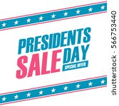 presidents day sale special... | Shutterstock .eps vector #566753440
