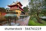Pavilion And Urns In The...