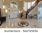 stunning two story entry foyer... | Shutterstock . vector #566765656
