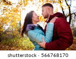 portrait of young loving couple ... | Shutterstock . vector #566768170