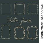 set of vector golden frames... | Shutterstock .eps vector #566770468