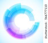 geometric frame  vector... | Shutterstock .eps vector #566777110