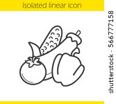 vegetables linear icon. thin... | Shutterstock .eps vector #566777158