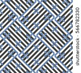 geometric seamless pattern with ... | Shutterstock .eps vector #566782330