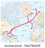 map of the gulf and north... | Shutterstock .eps vector #566784649