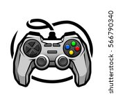 gamepad logo. | Shutterstock .eps vector #566790340