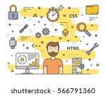 vector web development ... | Shutterstock .eps vector #566791360