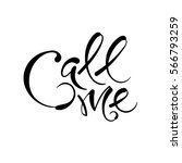 call me. vector hand drawn... | Shutterstock .eps vector #566793259