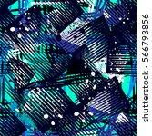 grunge geometric pattern for... | Shutterstock .eps vector #566793856