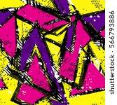 grunge geometric pattern for... | Shutterstock .eps vector #566793886