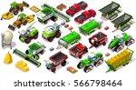 isometric farm barley 3d... | Shutterstock .eps vector #566798464