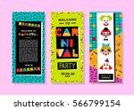 carnival templates in memphis... | Shutterstock .eps vector #566799154