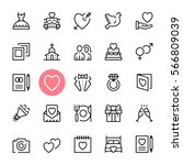 vector wedding icons set.... | Shutterstock .eps vector #566809039