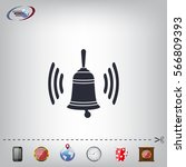 ringing bell icon | Shutterstock .eps vector #566809393