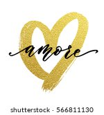 gold glitter heart and love... | Shutterstock .eps vector #566811130