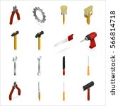 vector illustration. set of... | Shutterstock .eps vector #566814718