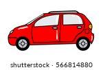 Car Cartoon Sticker In Retro...