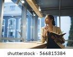 skillful professional female...   Shutterstock . vector #566815384