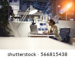 young talented copywriter in...   Shutterstock . vector #566815438