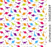 cute kids pattern for girls and ... | Shutterstock .eps vector #566818369