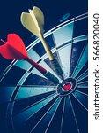 bullseye is a target of... | Shutterstock . vector #566820040