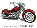 classic vintage motorcycle. | Shutterstock .eps vector #566821753