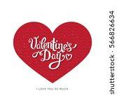 happy valentine's day lettering ... | Shutterstock .eps vector #566826634