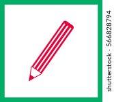 pencil vector icon.   Shutterstock .eps vector #566828794