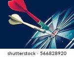 bullseye is a target of... | Shutterstock . vector #566828920