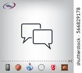 speech bubbles icon. vector... | Shutterstock .eps vector #566829178