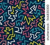 trendy memphis style seamless... | Shutterstock .eps vector #566830300