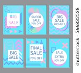 set of abstract sale cards in... | Shutterstock .eps vector #566832538