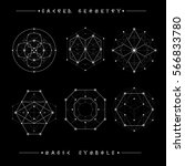 sacred geometry signs. set of... | Shutterstock .eps vector #566833780