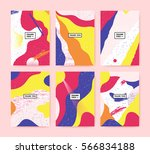 set of colorful cards with text ... | Shutterstock .eps vector #566834188