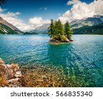 Small Island On The Sils Lake....