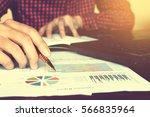 close up businessman hand... | Shutterstock . vector #566835964