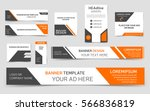 set of orange web banners.... | Shutterstock .eps vector #566836819