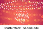luxury valentines day garland... | Shutterstock .eps vector #566838433