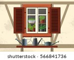 vector flat illustration about... | Shutterstock .eps vector #566841736