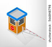 security lodges with mechanical ...   Shutterstock .eps vector #566848798