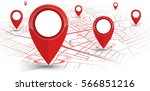 gps.navigator pin red color... | Shutterstock .eps vector #566851216