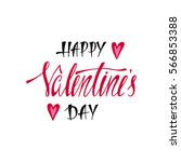 happy valentines day.... | Shutterstock .eps vector #566853388