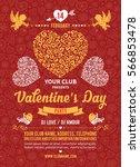 festive poster  flyer or... | Shutterstock .eps vector #566853478
