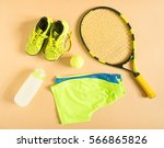 sport  fitness  tennis  healthy ... | Shutterstock . vector #566865826