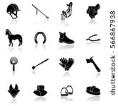 Horse Riding Equipment  Icon...