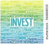 invest word cloud  business... | Shutterstock . vector #566868010