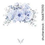 card  watercolor wedding... | Shutterstock . vector #566870050