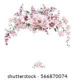 card  watercolor wedding... | Shutterstock . vector #566870074