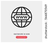 www vector icon  website symbol.... | Shutterstock .eps vector #566870569
