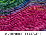 threads densely reeled up on... | Shutterstock . vector #566871544